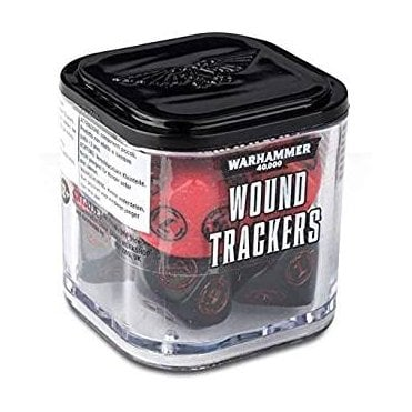 Warhammer 40,000 Wound Tracker Dice - Red/Black