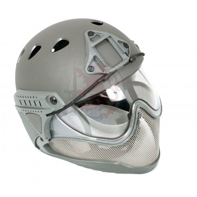 WARQ Advanced Full Face/Head Helmet Protection System - Grey