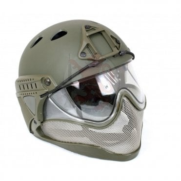 WARQ Advanced Full Face/Head Helmet Protection System - Khaki