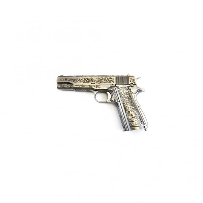WE Airsoft Europe 1911 Chrome Etched Special Edition