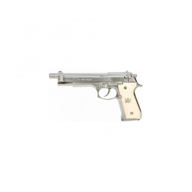 "WE Airsoft Europe M92 L ""Cutlass"" Silver Pistol"