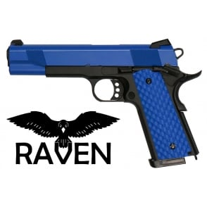 WE Airsoft Europe Raven 1911 MEU Two Tone Black/Blue