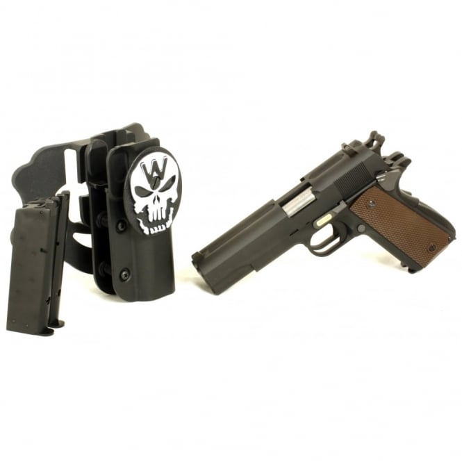 WE Airsoft Europe WE 1911 Double Barreled Gas Blowback Pistol