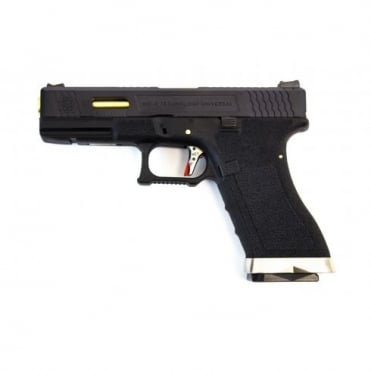 WE Airsoft E Force EU17 Black Frame - Black Slide / Gold Barrel
