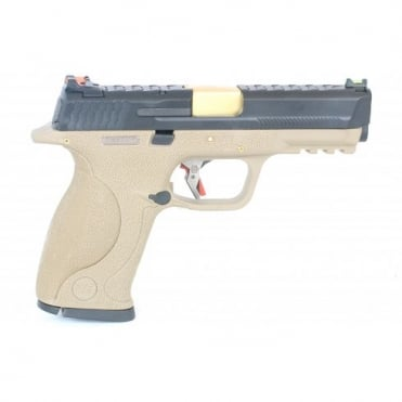 WE Airsoft Europe E Force Big Bird FDE - Black and Gold