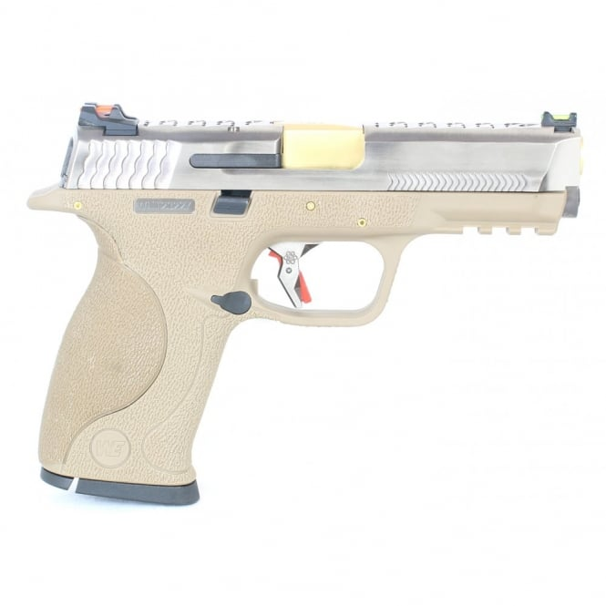 WE Airsoft Europe E Force Big Bird FDE - Silver and Gold