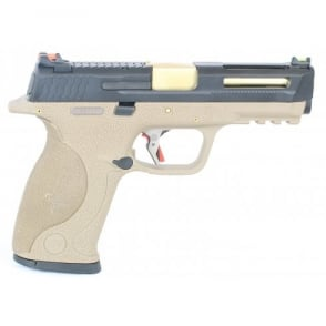 WE Airsoft Europe E Force Big Bird FDE Vented - Black and Gold