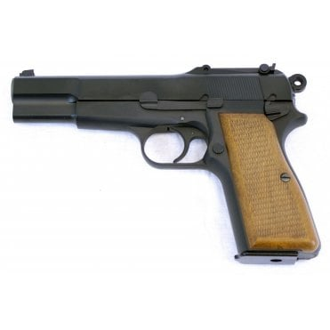 WE Browning Hi Power Gas Blowback Pistol- Black