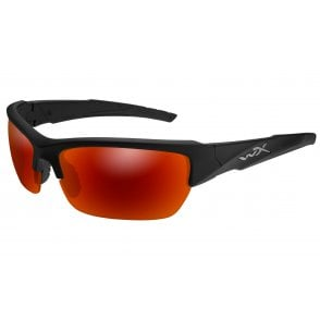Wiley X WX VALOR - Polarized Crimson Mirror Lenses / Matte Black Frame