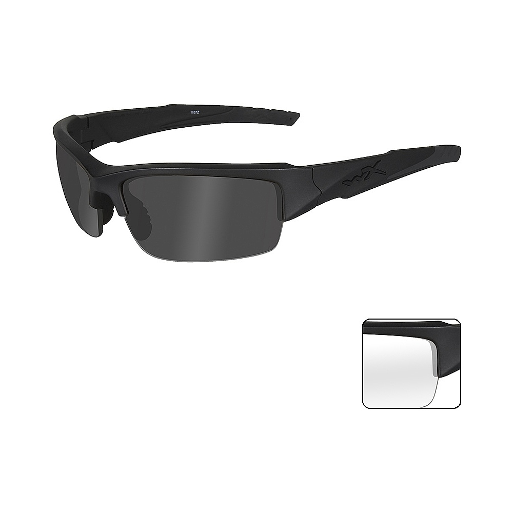 0effce277b1 Wiley X WX VALOR - Smoke Grey + Clear Lenses   Matte Black Frame