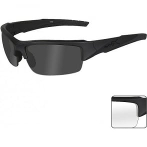 Wiley X WX VALOR - Smoke Grey + Clear Lenses / Matte Black Frame
