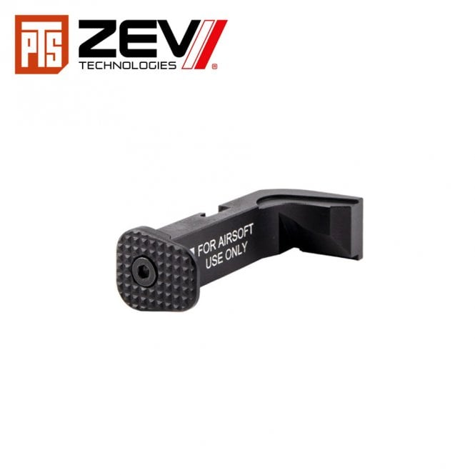 PTS Syndicate Airsoft ZEV G17 Mag Release Button Kit - Black & Silver