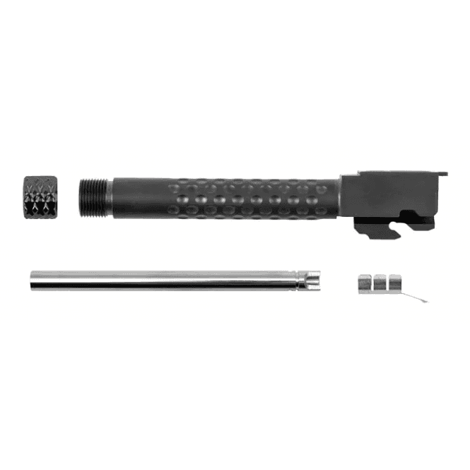 PTS Syndicate Airsoft ZEV G17 Threaded Outer Barrel, Inner Barrel & Thread Cover - Black